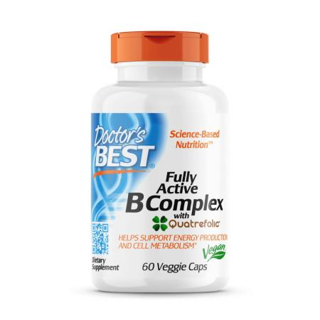 Doctor's Best Fully Active B Complex, 30 вегакапсул