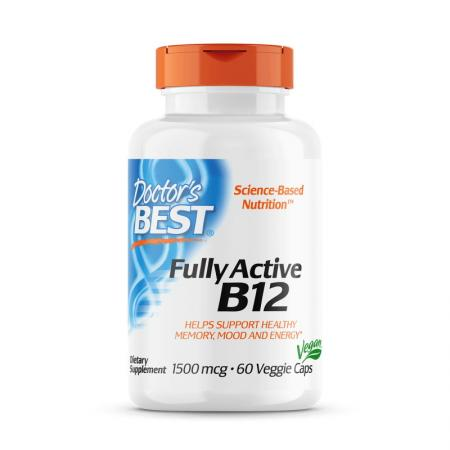 Doctor's Best Fully Active B12 1500 mcg, 60 капсул