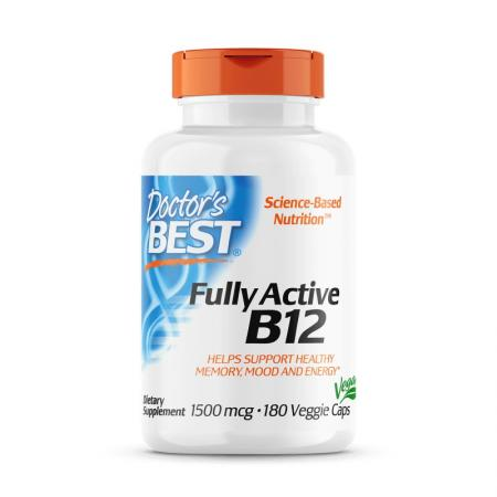 Doctor's Best Fully Active B12 1500 mcg, 180 капсул