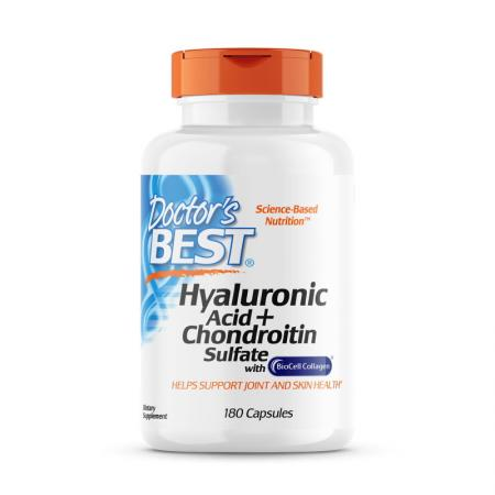 Doctor's Best Hyaluronic Acid with Chondroitin Sulfate, 180 капсул