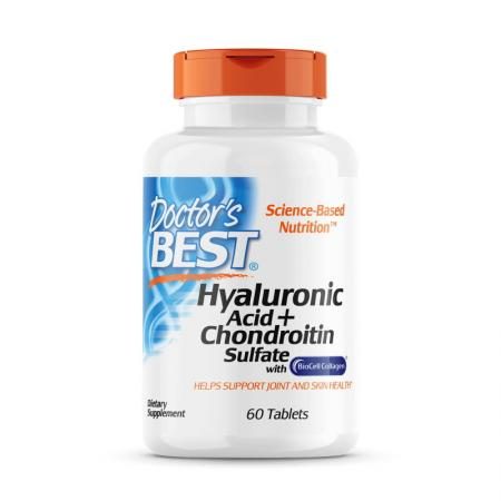 Doctor's Best Hyaluronic Acid with Chondroitin Sulfate, 60 таблеток