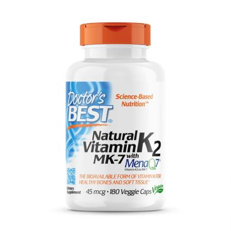 Doctor's Best Natural Vitamin K2 MK-7 with MenaQ7 45 mcg, 180 капсул
