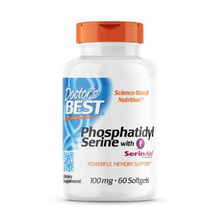 Doctor's Best Phosphatidylserine with SerinAid 100 mg, 60 капсул