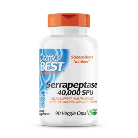 Doctor's Best Serrapeptase 40000 SPU, 90 капсул