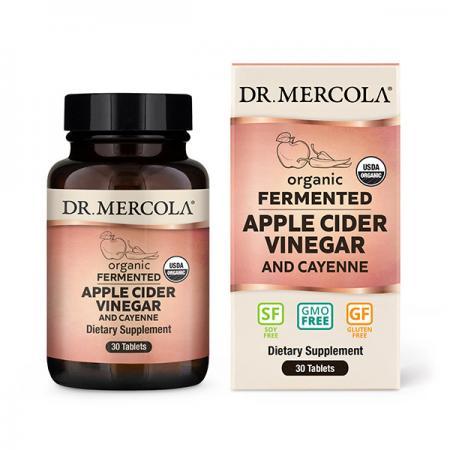 Dr. Mercola Fermented Apple Cider Vinegar and Cayenne, 30 таблеток