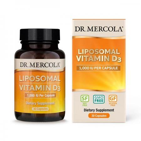 Dr. Mercola Liposomal Vitamin D3 1000 IU, 30 капсул