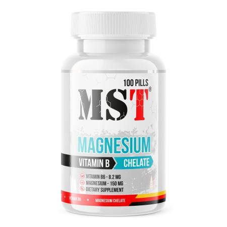 MST Magnesium Chelate Plus Vitamin B6, 100 таблеток