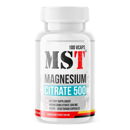 MST Magnesium Citrate 500 mg, 100 капсул