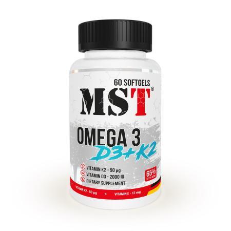 MST Omega 3 65% + D3 + K2, 60 капсул