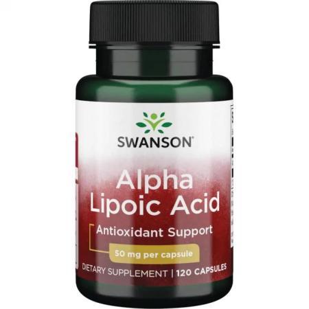Swanson Alpha Lipoic Acid 50 mg, 120 капсул