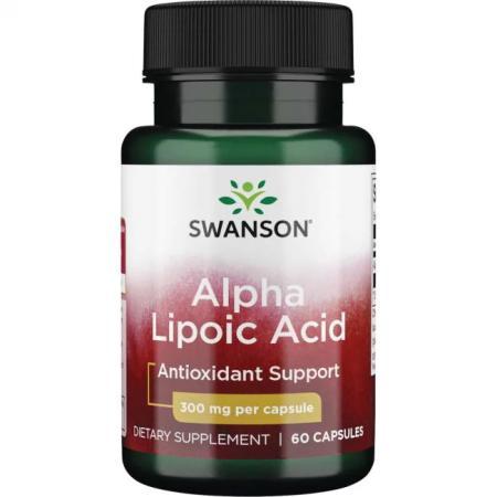 Swanson Alpha Lipoic Acid 300 mg, 60 капсул