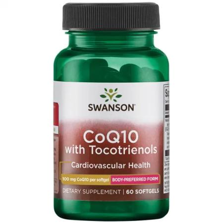 Swanson CoQ10 with Tocotrienols 100 mg, 60 капсул