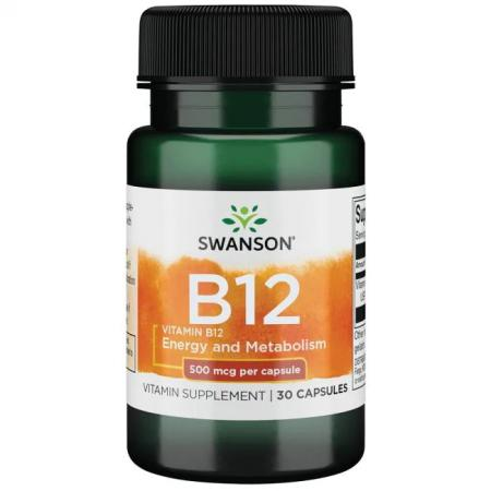 Swanson Vitamin B12 500 mcg, 30 капсул