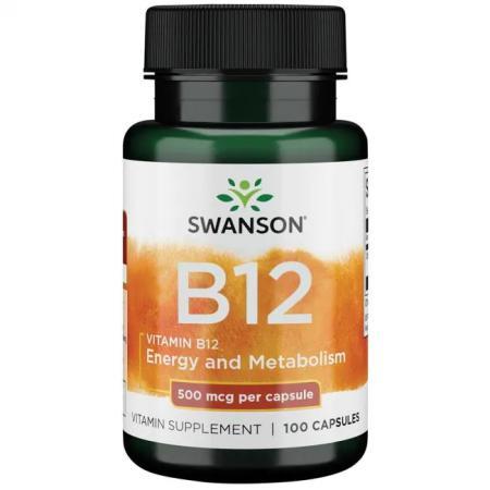 Swanson Vitamin B12 500 mcg, 100 капсул