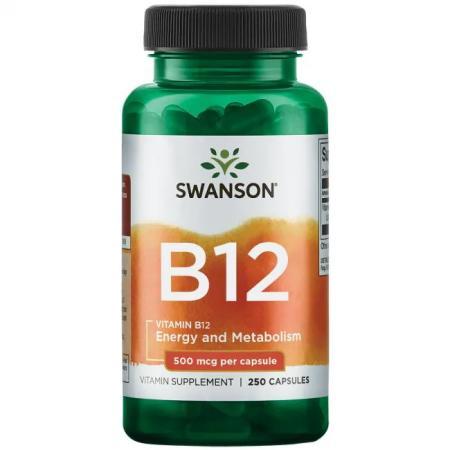 Swanson Vitamin B12 500 mcg, 250 капсул