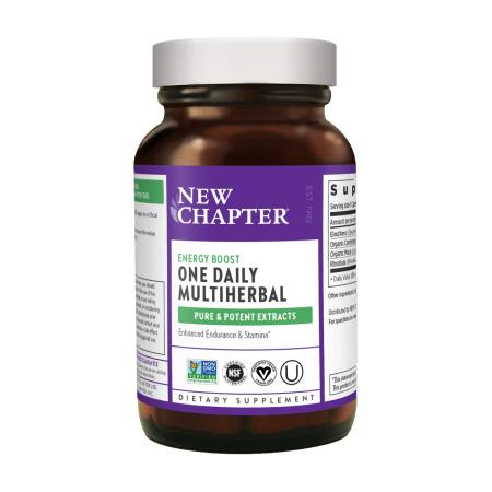 New Chapter One Daily Multiherbal Energy Boost, 30 капсул