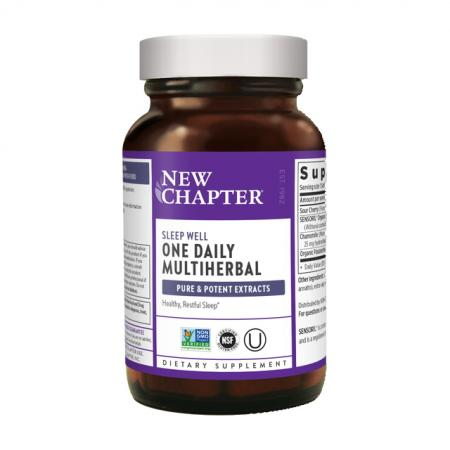 New Chapter One Daily Multiherbal Sleep Well, 30 капсул