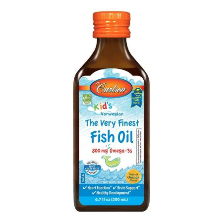 Carlson Labs Kid's The Very Finest Fish Oil, 200 ml - orange