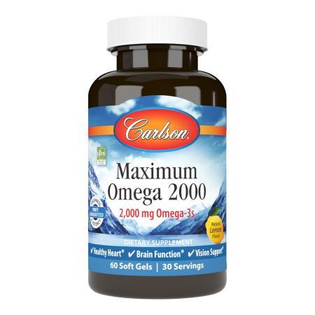 Carlson Labs Maximum Omega 2000, 60 капсул
