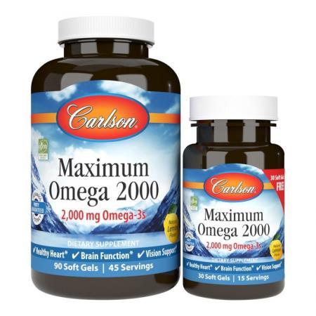 Carlson Labs Maximum Omega 2000, 90+30 капсул