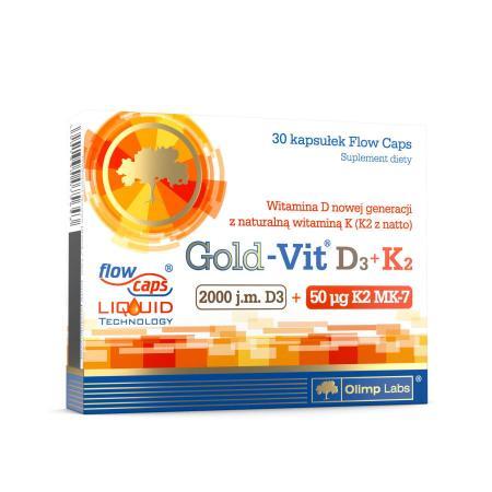 Olimp Gold-Vit D3+K2, 30 капсул