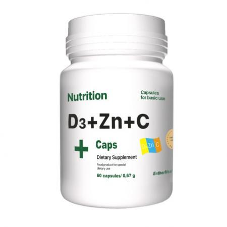 EntherMeal D3 + Zinc + С 60 капсул