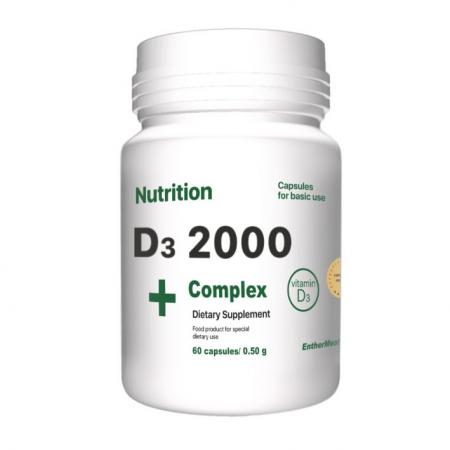 EntherMeal D3 2000 Complex+, 60 капсул