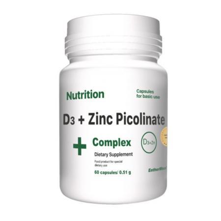 EntherMeal D3 + Zinc Picolinate, 60 капсул