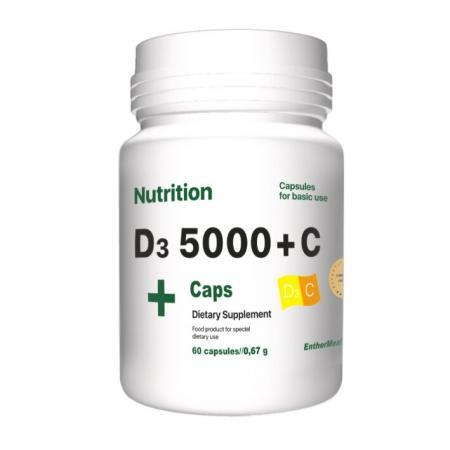EntherMeal D3 1000+С Complex+, 60 капсул