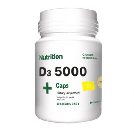 EntherMeal D3 5000, 60 капсул