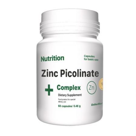 EntherMeal Zinc Picolinate Complex+, 60 капсул