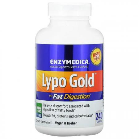 Enzymedica Lypo Gold, 240 капсул