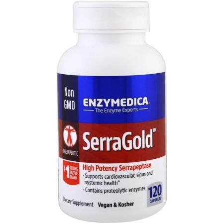 Enzymedica Serra Gold, 120 капсул