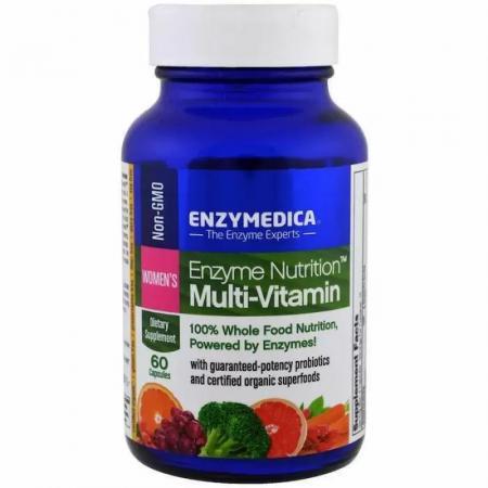 Enzymedica Women's Enzyme Nutrition Multi-Vitamin, 60 капсул