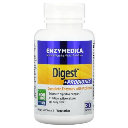 Enzymedica Digest + Probiotics, 30 капсул