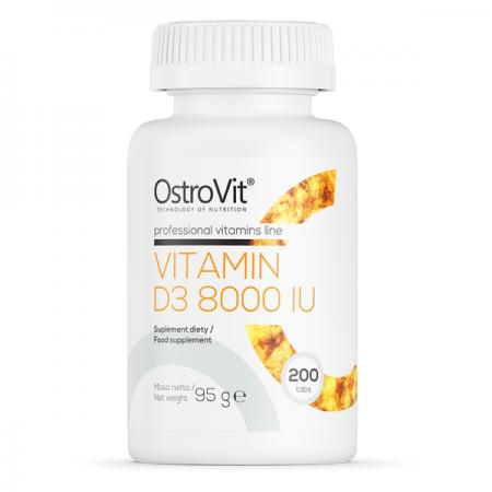 OstroVit Vitamin D3 8000 IU, 200 таблеток