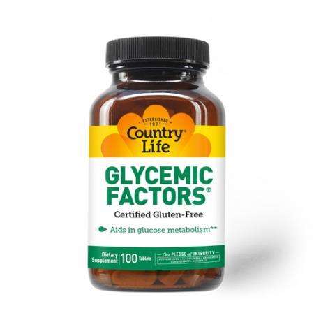 Country Life Glycemic Factors, 100 таблеток