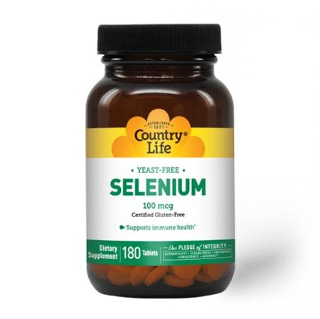 Country Life Selenium 100 mcg, 180 таблеток