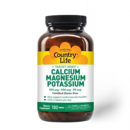 Country Life Target-Mins Calcium Magnesium Potassium, 180 таблеток