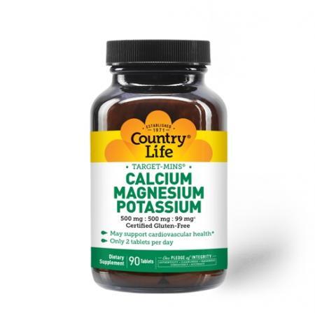 Country Life Target-Mins Calcium Magnesium Potassium, 90 таблеток