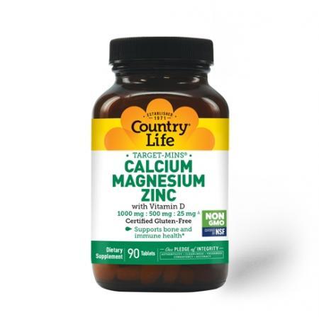 Country Life Target-Mins Calcium Magnesium Zinc, 90 таблеток