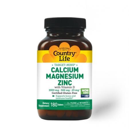 Country Life Target-Mins Calcium Magnesium Zinc, 180 таблеток