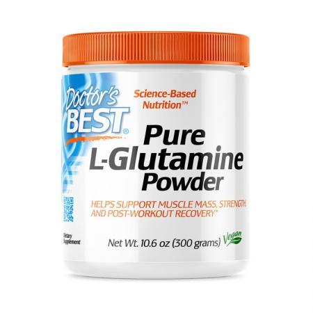 Doctor's Best Pure L-Glutamine Powder, 300 грамм
