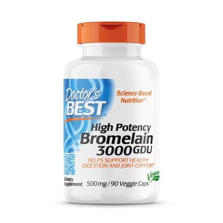 Doctor's Best Bromelain 3000 GDU, 90 вегакапсул
