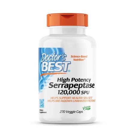 Doctor's Best Serrapeptase 120000 SPU High Potency, 270 капсул