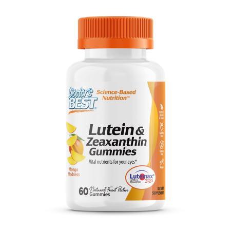 Doctor's Best Lutein and Zeaxanthin, 60 жувальних таблеток
