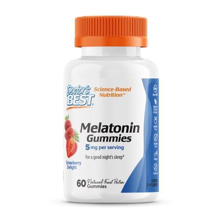 Doctor's Best Melatonin 5 mg, 60 желеек - клубника