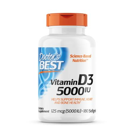 Doctor's Best Vitamin D3 5000 IU, 180 капсул