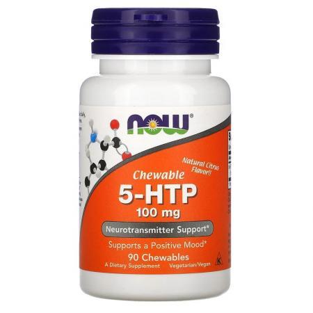 NOW 5-HTP 100 мг, 60 вегакапсул