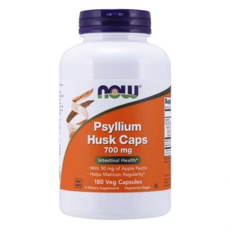 NOW Psyllium Husk 700 mg, 180 вегакапсул